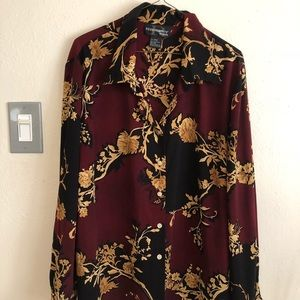 requirements woman long sleeve blouse floral print